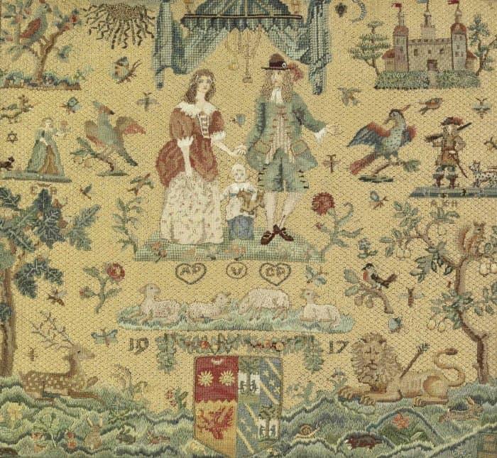 Lady Brabourne's fine needlework on display at Parham