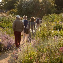 Walking the gardens at Parham House