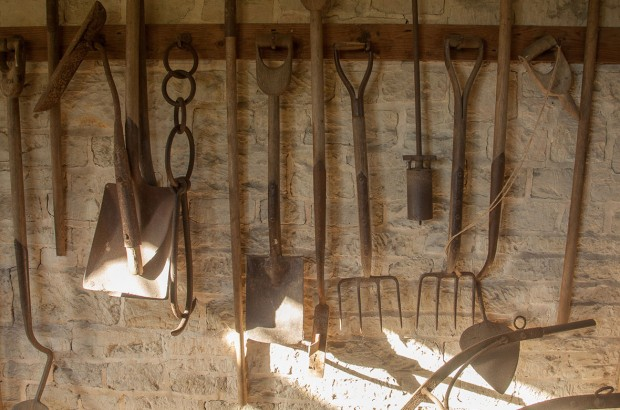 The potting shed at Parham House in Sussex UK