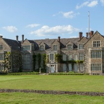 Wide angle shot of Parham House Sussex